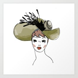 Kentucky Derby Hat Art Print
