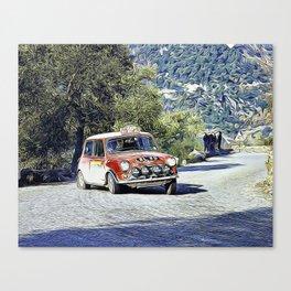 Mini at the Monte Carlo Rallye Canvas Print