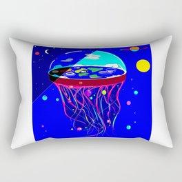 Flat Earth Jellyfish Spaceship Rectangular Pillow