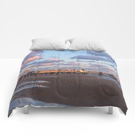 Blackpool Central Pier Sunset Comforters