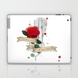 Shakespeare Quote (Flower and Serpent) Laptop & iPad Skin