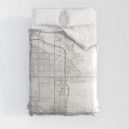 Minimal City Maps - Map Of Scottsdale, Arizona, United States Comforters