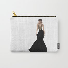 Lady with Guns and a Dress Carry-All Pouch
