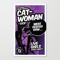 Ladies of DC - Catwoman Canvas Print