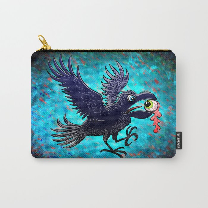Crow Stealing an Eye Carry-All Pouch