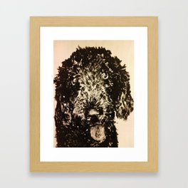Stella the Poodle Framed Art Print