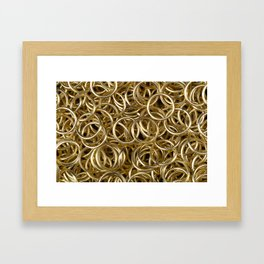 Gold Rings Framed Art Print