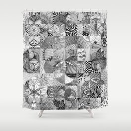 Art in Action Logo Shower Curtain