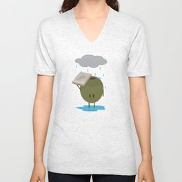 Olive the Lonely People Unisex V-Neck