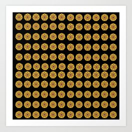 Circular Design Pattern Art Print