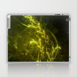 Magical Fractal Fairy Ferns in an Emerald Forest Laptop & iPad Skin