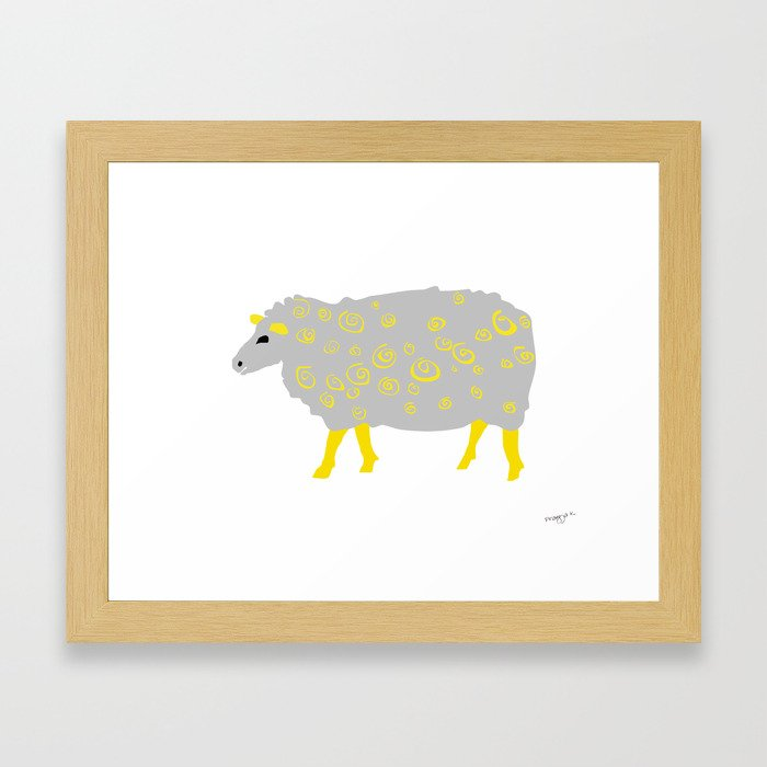 Curly sheep Framed Art Print