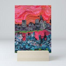 """Saucy Cityscape 1"" by Jordan Halstead Mini Art Print"