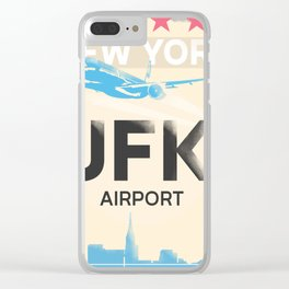 JFK stylish airport code Clear iPhone Case