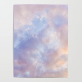 Pink sky / Photo of heavenly sky Poster