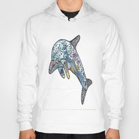 dolphin Hoodies featuring Dolphin by PepperDsArt