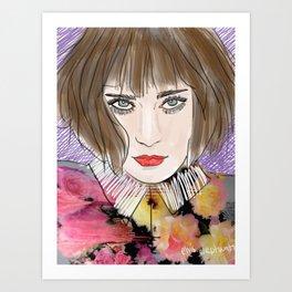 Floral chloe Art Print