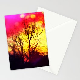 When the Sun goes Down Stationery Cards