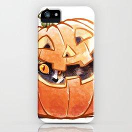 Pumpkin Spice Kitty iPhone Case