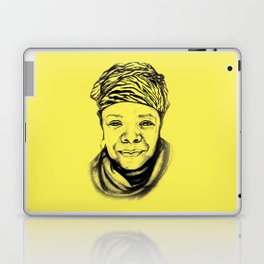 Maya Angelou - (yellow) Sketch to Digital Laptop & iPad Skin
