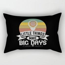 Little things make big days Rectangular Pillow