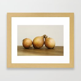 Onion trio Framed Art Print