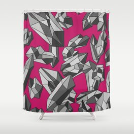 Falling crystals #6 Shower Curtain