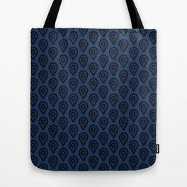 Navy Here Tote Bag
