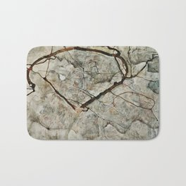 Egon Schiele - Autumn Tree In Stirred Air (Winter Tree) Bath Mat