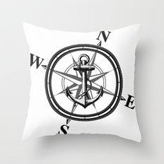 Nautica BW Throw Pillow