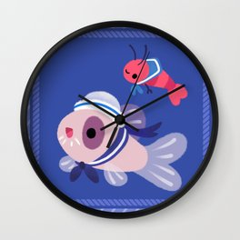 Cory cats on voyage Wall Clock