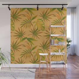 Leave Pattern Wall Mural