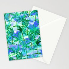 Palm Tree Blue Green Stationery Cards