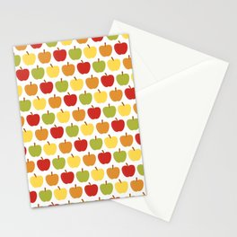 Apples Over White Stationery Cards