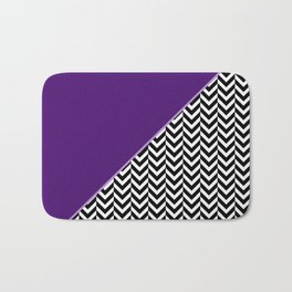 Chevron and Purple Print Bath Mat