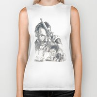 walking dead Biker Tanks featuring Walking Dead by Heather Andrewski