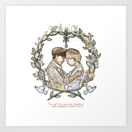 """Illustration from the video of the song by Wilder Adkins, """"When I'm Married"""" (no names on it) Art Print"""