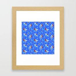 bullfinches and Holly Framed Art Print