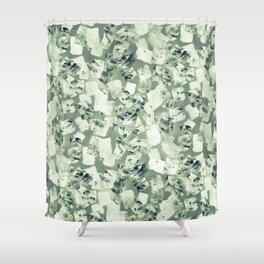 tear down (variant 2) Shower Curtain