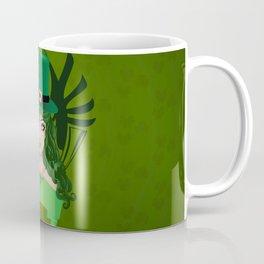 Leprechaun lady in green hat Coffee Mug