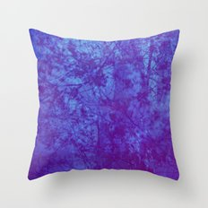Pink & Purple Blossoms Throw Pillow