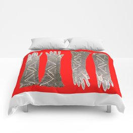 her gloves Comforters