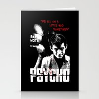 psycho Stationery Cards featuring Psycho by PsychoBudgie