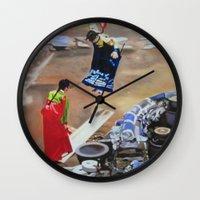 korean Wall Clocks featuring Korean Seesaw by Robert S. Lee Art