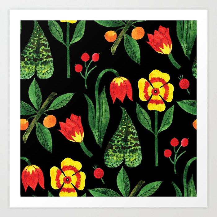 Botanic Watercolor Collection #9 Art Print
