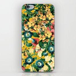 Tangerine Floral Pattern Vintage iPhone Skin