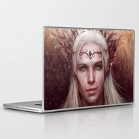 thranduil Laptop & iPad Skins featuring Thranduil Portrait by Jay Lockwood Carpenter