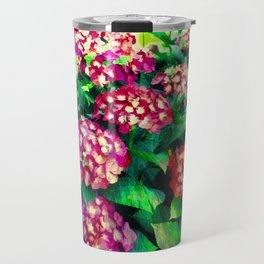 Garden Hydrangea - Raspberry Pink and Lavender Travel Mug