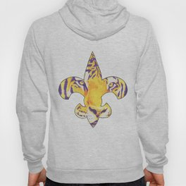 Fleur De Lis LSU Tiger Hoody