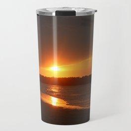 Sunset Over The Waterway Travel Mug